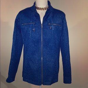 Zenergy by CHICOS blue zip up jacket Large